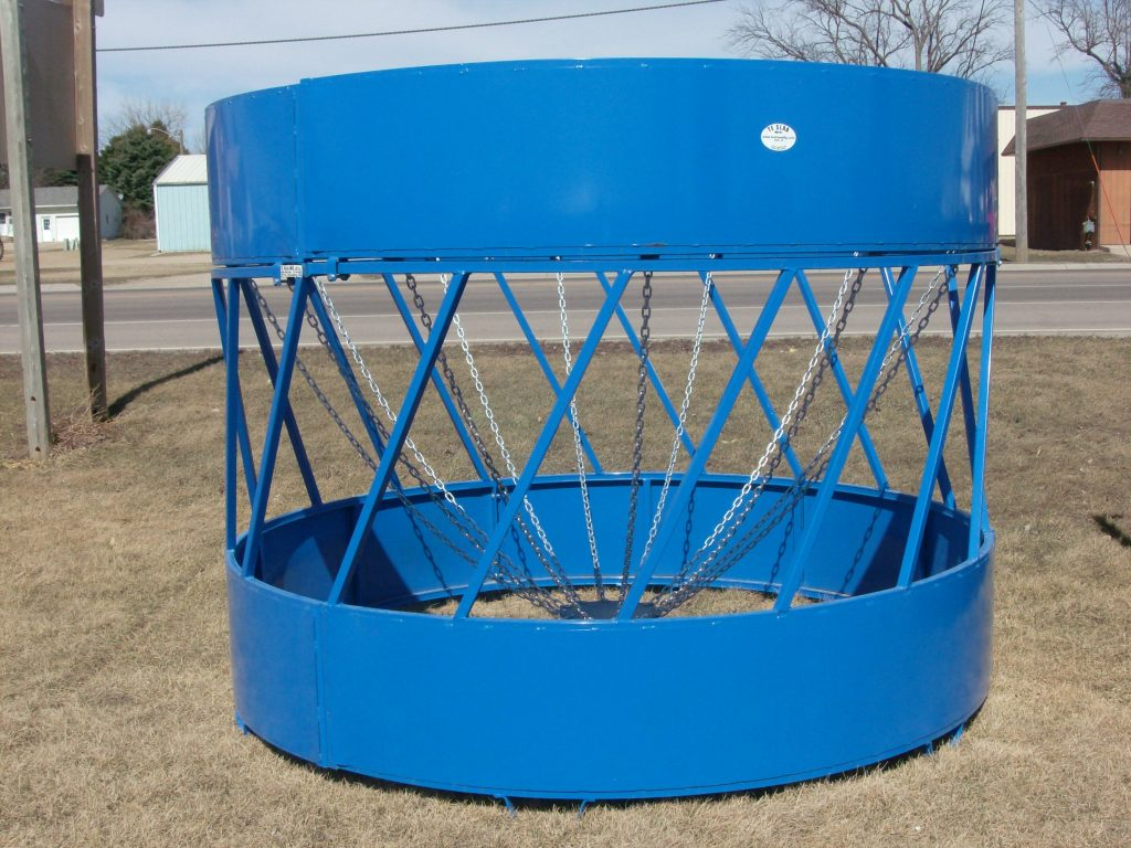 Round Bale Feeder With Foot And Hay Saver Insert Te Slaa